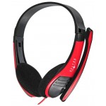 Наушники Oklick HS-M150 Black-Red с микрофоном
