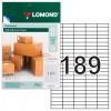 Этикетка самоклеящаяся 25,4х10 мм, 189 этикеток, белая, 70 г/м2, 50 листов, LOMOND, 2100235