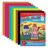 Цветная бумага А4 газетная, 14 листов 8 цветов, на скобе, АППЛИКА, 205х280 мм,